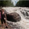 Adirondacks Long Lake Buttermilk Falls Jenna and Monique June 2009
