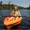 Adirondacks Forked Lake Jenna in Her Kayak August 2010
