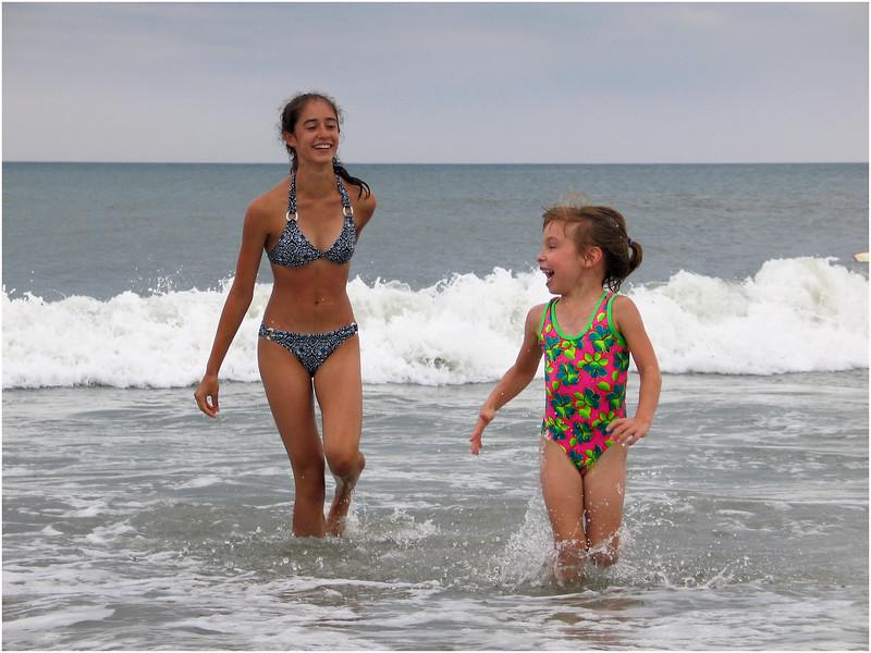 Jenna and Elena Murray Avalon Beach July 15 2004
