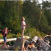 Adirondacks Forked Lake August 2007 Campsite 75 Sammie Stern and Jenna Fishing