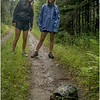 Adirondacks July 2015 Oneil Flow Road Maddy and Jenna with Snapping Turtle