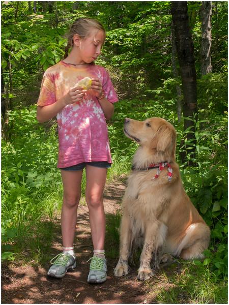 Adirondacks Sawyer Mountain Jenna, Brody and Appple June 2009