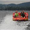 Adirondacks Blue Mountain Lake Jenna and Maddy Tubing Big Mabel July 2012