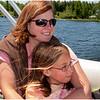 Chateaugay Lake July 2009 Jenna and Kim on Pontoon Boat