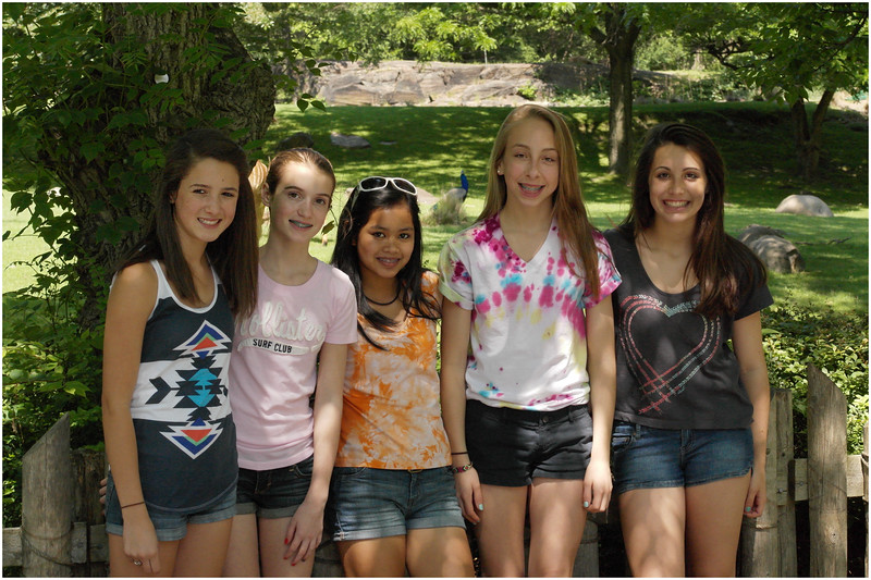 Bronx Zoo Lindsey Stento, Emily Furlong, Janine Cooley, Jenna, Callie Noonan May 2012