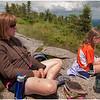 Adirondacks Cascade Mountain Trail Kim and Jenna on Summit July 2009