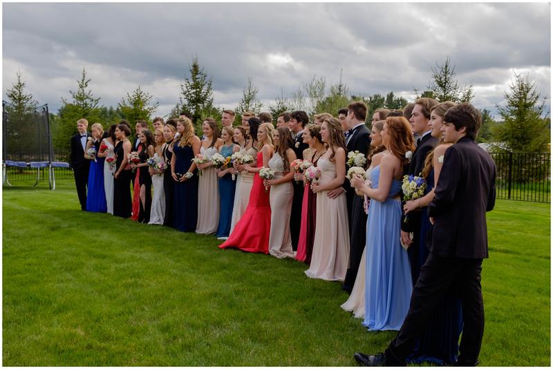 At Miranda's  Big Group 1 Prom 2016