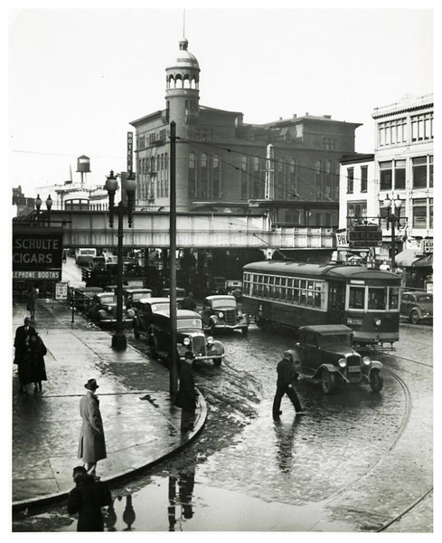 Schenectady NY State Street between Center St now Broadway and Erie BLVD circa 1936
