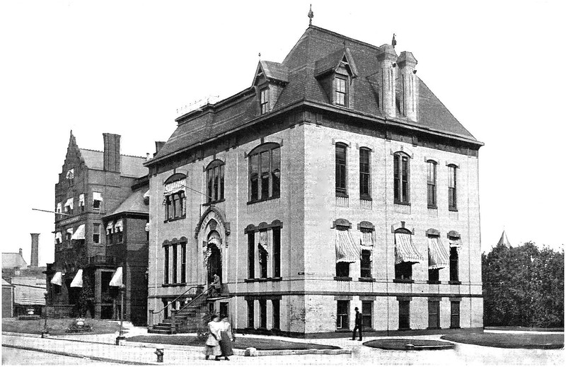 Schenectady NY Jay and Franklin Streets, Old City Hall on site of current one, circa 1900