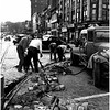 Schenectady NY 1952 State Street Removing Trolley Tracks