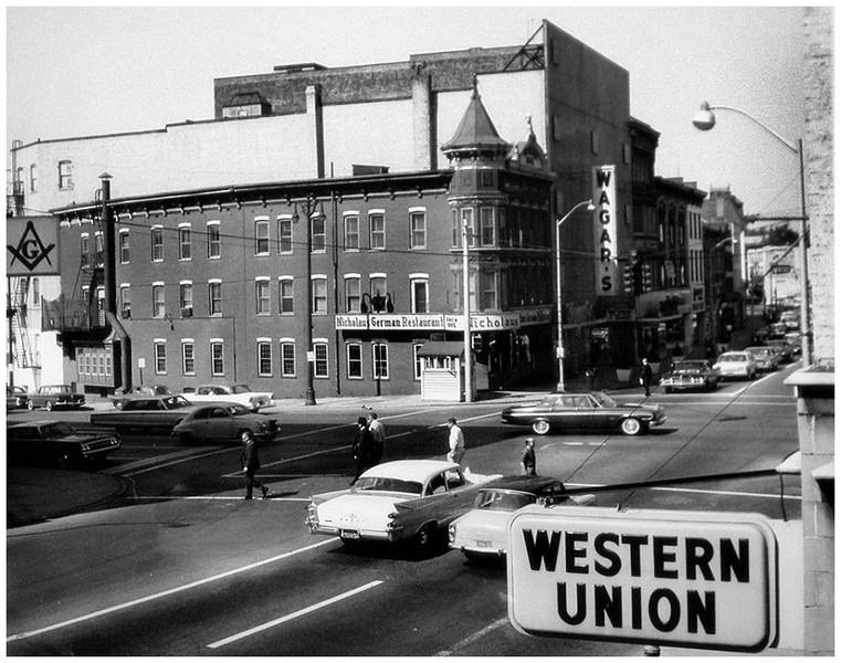 Schenectady NY State at Erie Blvd 1950's