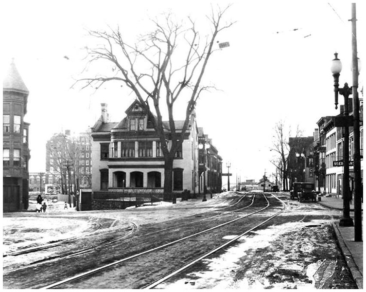 Schenectady NY George Westinghouse Sr  State Street and Liberty Park circa 1920