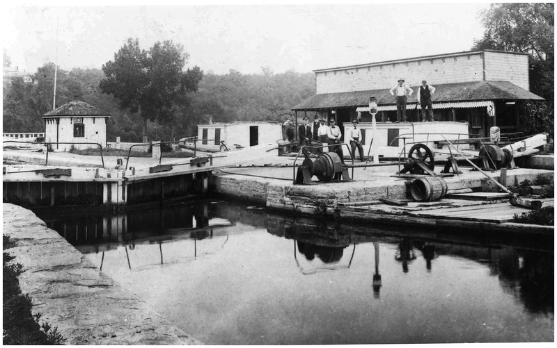 Schenectady NY Old Enlarged Erie Canal Schenectady Canal Store still stands as Schenectady Yacht Club circa 1900
