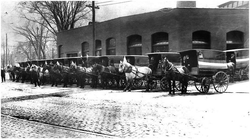 Troy NY Lansingburg Freihofers Deliver wagons circa 1940's