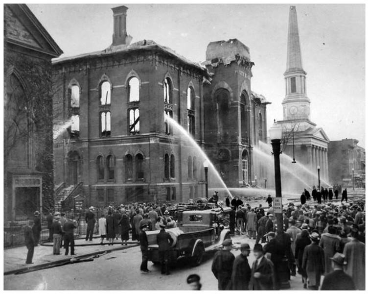 Troy NY City Hall Fire 1938