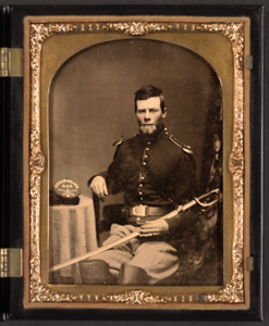 Cavalry soldier with the regiment in California c. 1863