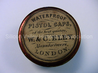Waterproof pistol caps by Eley Manufacturers in London