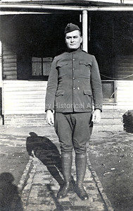 Soldier at Camp Fremont in Palo Alto, California