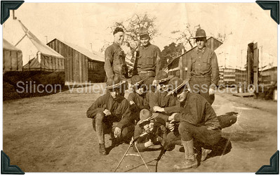 Camp Fremont Soldiers in Palo Alto, California - 1918
