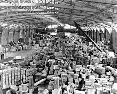 Pier 21 at Fort Mason in San Francisco, California c. 1921 showing cargo shipments