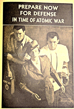 Prepare Now for Defense in Time of Atomic War - Norman Rockwell image for US Government publication