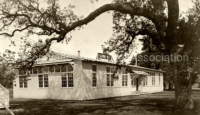 Camp Fremont library building in Palo Alto, California c.1918