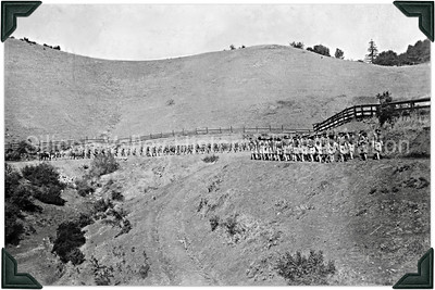 Marching Soldiers at Camp Fremont in Palo Alto, California,  1918