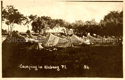 WWI US Army soldiers camping in Alabang, Philippines Island c. 1917