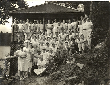 Staff portrait ca. 1945. As today, the counselors provided leadership by example, with an emphasis on self-reliance, friendship, respect for nature, gratitude and service and simple living without material acquisition.