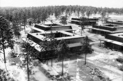 Snow Covers Dormitories at UWF