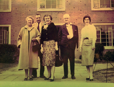 Grandma Case (Marion), Uncle John, Grandma Moynihan (Mary), Granpa Case (Russell) and Mom