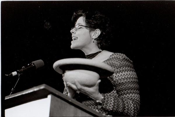 Beth Kelly Gillogly. Staff poet reading. 2001.