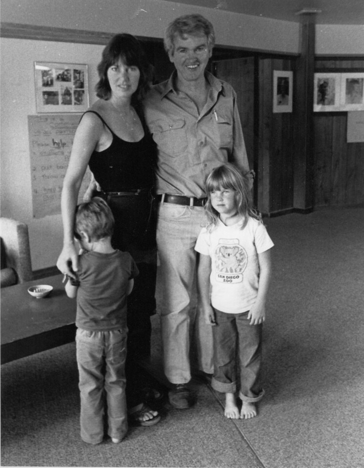 Tom Rickman and family. 1982.