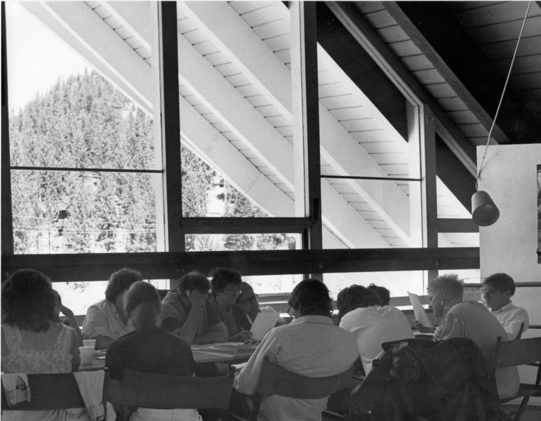 Galway Kinnell's workshop. 1986. [photo credit: Barbara Hall]