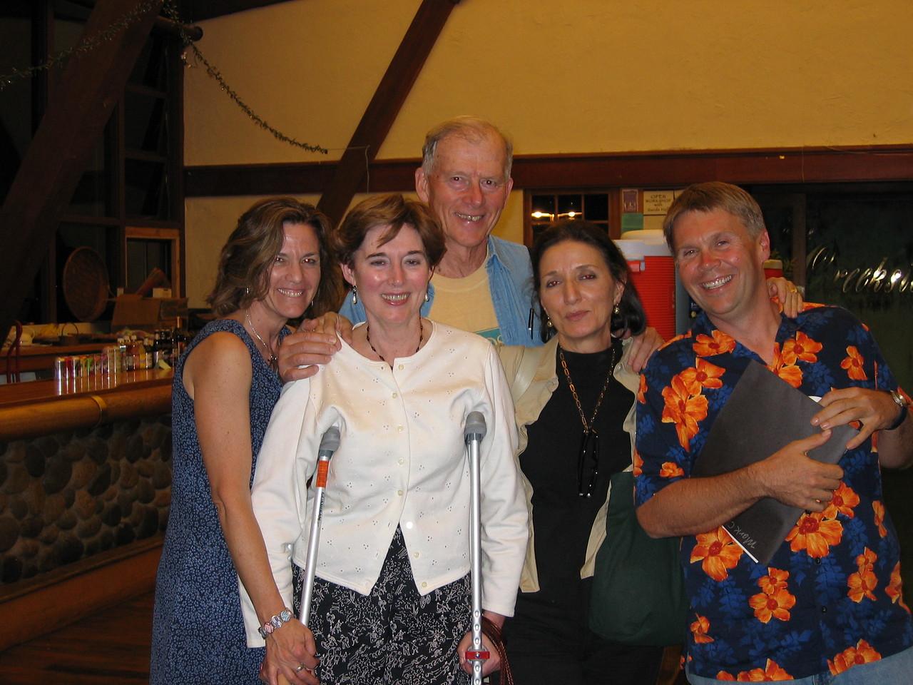 Sands Hall, Ann Close, James D. Houston, Lynn Freed and Mark Childress