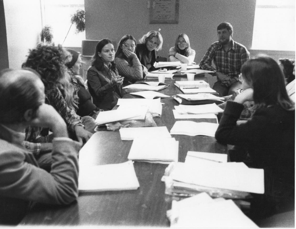 Diane Johnson, workshop. 1975.