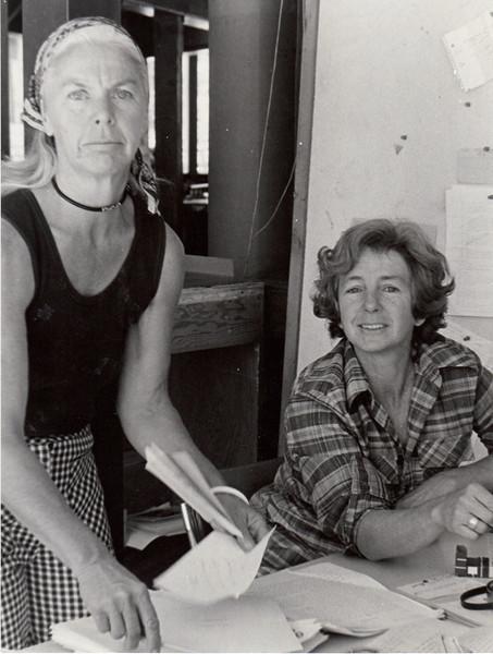 Barbara Hall, Joan Klaussen. 1974. [photo credit: Tracy Hall]