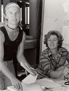 Barbara Hall, Joan Klaussen. 1974. [photo credit: Tracy Hall]
