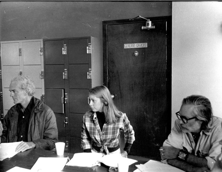 Blair Fuller, Wally Ballenger. In workshop. [photo credit: Barbara Hall]