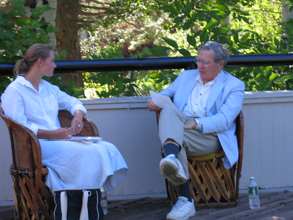 Galway Kinnell holds a individual session - 2004
