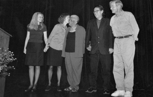 Sharon Olds, Brenda Hillman, Lucille Clifton, Li-Young Lee, Galway Kinnell. Benefit poetry reading in San Francisco - 2001.