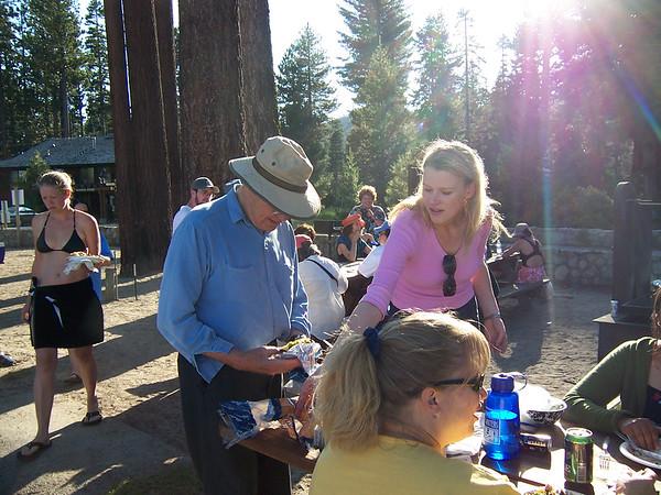 Galway at the Poet picnic and Meeks Bay - Lake Tahoe 2005