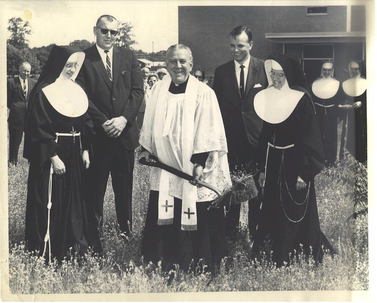 1958-St Leo pix-1 ground breaking