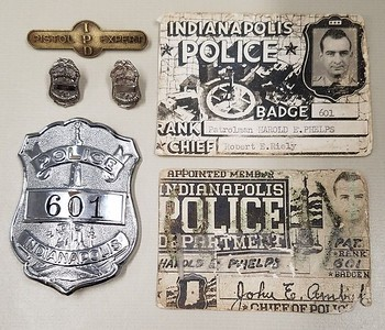 Harold Phelps badge and ID