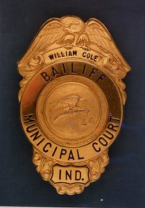 William Cole Bailiff Badge