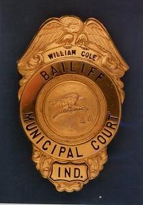 William Cole Bailiff Badge