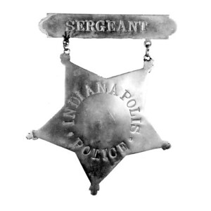 Copy of 5 point inverted star badge