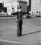 IPD Officer Harold Olsen on Monument Circle 6-6-1941