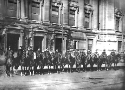 1920's Mounted Patrol in front of City building