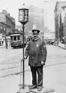 1900's IPD Officer directing traffic